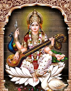 Album No. Saraswati Photo, Saraswati Goddess, Lord Ganesha Paintings, Lord Shiva Painting, Indian Art Paintings, Abstract Paintings, Oil Paintings, Lord Murugan Wallpapers, Lakshmi Images