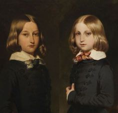 Portrait of Leopoldo ll of Belgium and his Brother Phillippe, 1845 by Franz Xaver Winterhalter