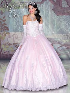 Disney Royal Ball Quinceanera Dress Sleeping Beauty Style 41042 is made for Sweet 15 girls who want to look like a beautiful Princess on her special day. Designed by Impression Bridal, these quinceane