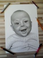 Kreslený portrét dieťa .  www.facebook.com/portrety.obrazy https://instagram.com/lubomir.franciak/ http://www.portrety-obrazy.sk/