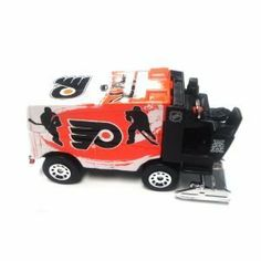 NHL Philadelphia Flyers 2010 1:64 Diecast Zamboni by Top Dog. $9.99. Few machines are more recognized in sports than the Zamboni®. Properly honor your team  and  the ice resurfacer with this NHL® Zamboni® collectible from Top Dog®. It boasts a 1:64 scale and a die-cast metal construction for long-lasting durability.