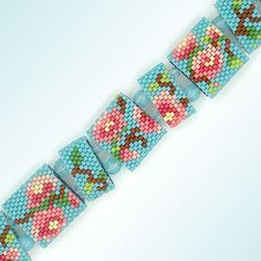 Peyote Carrier Bead Bracelet Pattern for one drop peyote stitch. Note: peyote stitch instructions are not included. Basic knowledge of peyote stitch needed to complete. The PDF file contains: • large, detailed color graph of the pattern • photo of the finished bracelet • computer