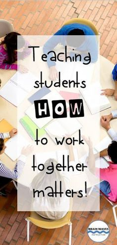 You know what they say: Two heads are better than one. Add even more heads… well, then you've got yourself a team! Free tips and ideas for teaching students how to work together. Social Studies Classroom, Ela Classroom, Flipped Classroom, Classroom Community, Classroom Ideas, 6th Grade Activities, First Day Of School Activities, Student Behavior, Student Teaching