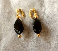 Blank Onyx Type Stone Earrings  Large by SmilingSamCollection