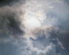 Gerhard Richter, Wolkenstudie (Gegenlicht) Cloud Study (Contre-jour), 1970, 80 cm x 100 cm, Oil on canvas