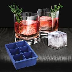 "KING CUBE ICE TRAY  Nothing says WOW! to your beverage like a giant 2"" ice cube!"