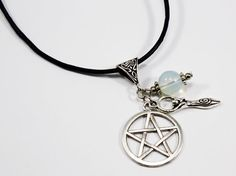 Moon Goddess Pentagram Necklace  Pentagram Necklace  by Taypop