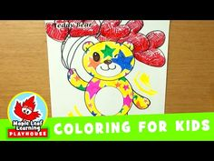 Teddy Bear Coloring Page for Kids   Maple Leaf Learning Playhouse - YouTube