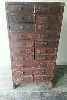 Antique Multi Drawer Apothecary Cabinet