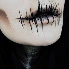 Lidschatten: Dunkle Materie + The Rust s … - Halloween Make-up Makeup Fx, Creepy Makeup, Cosplay Makeup, Costume Makeup, Demon Makeup, Makeup Brushes, Cool Makeup, Demon Costume, Ghost Makeup
