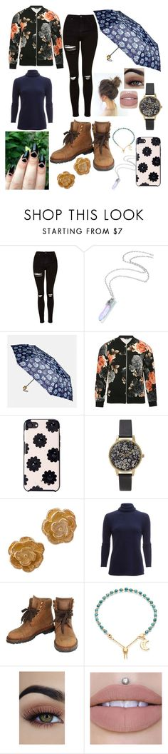 """Untitled #100"" by amazingcece ❤ liked on Polyvore featuring Topshop, Avenue, M&Co, Kate Spade, Olivia Burton, NOVICA, White + Warren, Chanel and Astley Clarke"