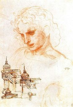 Drawing for the Last Supper, Saint James the elder. Leonardo da Vinci. Cenacolo…