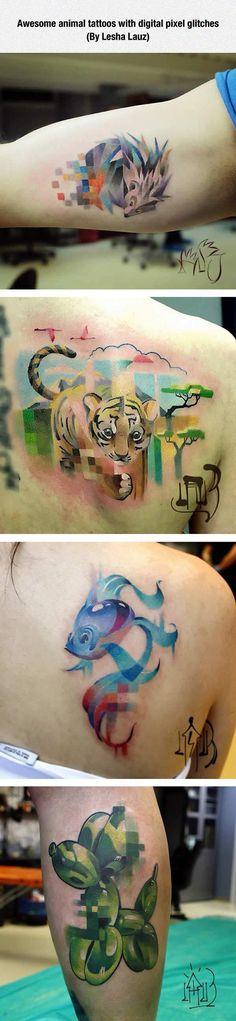 Glitch Art In Tattoos