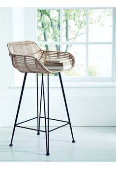 Flat Rattan High Stool - Stools - Furniture