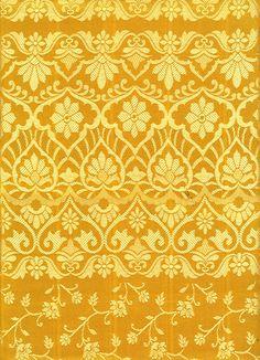 Yellow saree pattern by ~LaTaupinette @DeviantArt