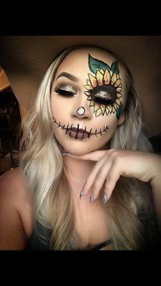 Scarecrow Halloween Makeup, Halloween Makeup Artist, Scarecrow Costume, Fete Halloween, Halloween Makeup Looks, Diy Halloween Costumes, Scary Halloween, Tutu Costumes, Costume Ideas