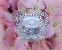 Baby Bling Rhinestone Baby Pacifier Novelty Item by BeccaRooni