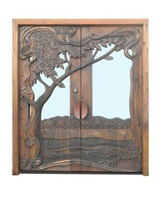 Hand Carved Door - Designed With Customer Instruction -  3219HC