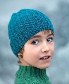 Tricot: un bonnet à côtes pour enfant