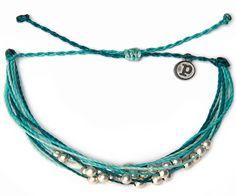 Platinum Aqua | Pura Vida Bracelets | $12 Love these! I want a full arm of them.