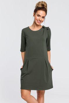 Zelené šaty M422  | Topankovo.sk Cold Shoulder Dress, Dresses For Work, Casual, Cotton, Products, Fashion, Dirndl, Moda, Fashion Styles