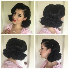 If you haven't read my Part One and Two of Sponge Roller Setting then make sure you catch up! Perfecting the art of putting your rollers in is crucial to a good set. Catch up here- Sponge Roller Setting Part Rolling! Sponge Roller Setting Part Problem … Rockabilly Hair Tutorials, 50s Hair Tutorials, Retro Hairstyles, Curled Hairstyles, Wedding Hairstyles, Updo Hairstyle, Sponge Rollers, Hair Setting, Pin Up Hair