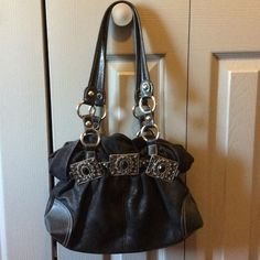 Kathy Van Zeeland Purse Pre-loved bag with some wear. The straps are in good shape but there are a few pen marks on the inside. {Negotiable} and can reduce for discounted shipping. Kathy Van Zeeland Bags Shoulder Bags