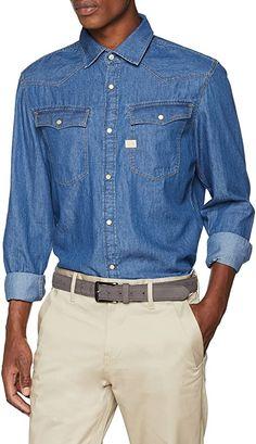 Gutes Hemd  Bekleidung, Herren, Tops, T-Shirts & Hemden, Freizeithemden G Star Raw, Denim Button Up, Button Up Shirts, Star Wars, Jeans, Casual, Tops, Jackets, Medium