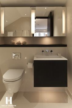 It doesn't matter whether you have a big home or a small home. Your bathroom is one of the rooms you should invest in as many luxurious fixtures and amenities as you can. Why A Bathroom is Worth Going… Bathroom Toilets, Bathroom Renos, Bathroom Interior, Modern Bathroom, Small Bathroom, Washroom, Downstairs Toilet, Toilet Design, Bathroom Inspiration