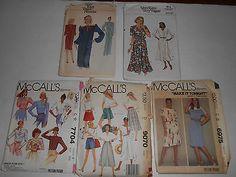 Lot-80s-Vintage-Vogue-McCalls-Patterns-Shirts-Culottes-Dresses-Uncut
