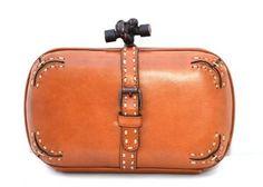 Bottega Veneta Tea Vachette Leather 2 Sided Knot Clutch Bottega Veneta 0925c599e87a5