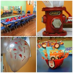Firetruck Birthday Theme, firefighter, boy birthday