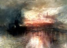 William Turner - The Burning of the Houses of Parliament. 1824