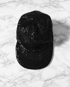 ⇢ new update: black all sequined cap / vintage 90s minimalist cap / one size / $65 #minimalist #minimalism #minimaliststyle #vintagecap #conceptstore #miniminvintageshop