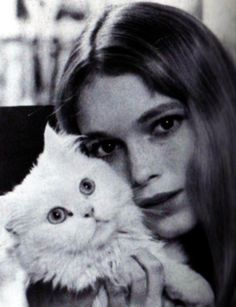 Mia Farrow and friend