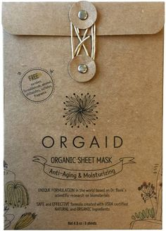 Anti-Aging/Moisturizing Organic Sheet Mask Pack (6 sheets)