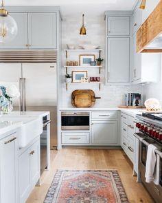 Kitchen Light Blue Kitchens, Fancy Kitchens, Oak Interior Doors, Huge Bedrooms, Style Me Pretty Living, Teen Room Decor, Bedroom Decor, Aesthetic Room Decor, Living Room Flooring