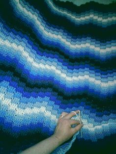 Ravelry: Project Gallery for Cascade Afghan pattern by Craft Yarn Council of America