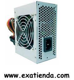 Ya disponible Fuente micro atx tooq tqmp 450    (por sólo 24.95 € IVA incluído):   -Fuente de alimentación Micro ATX silenciosa -Incluye un ventilador silencioso de 80mm -Potencia:450W -Conectores:1 x 20+4 pin, 1 x 4 pin CPU, 3 x IDE, 1 x FDD y 2 x SATA -Incluye cable de alimentación de 1,2m -Lleva protección frente a sobretensión, subtensión, cortocircuito y sobrecarga -Medidas:125x63,5x100 mm  Garantía de 24 meses.  http://www.exabyteinformatica.com/tienda/2299-fu
