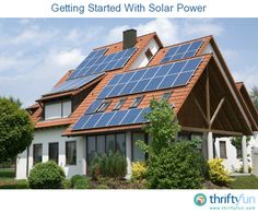 This guide is about getting started with solar power. There are many ways to use the sun to collect energy, and after initial investments can save you money.
