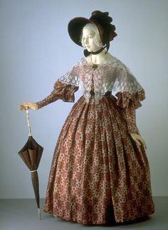 Wool dress, England, 1836 - 1838. (via V)