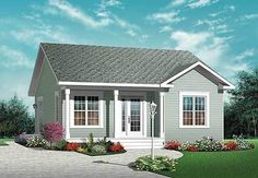Popular Compact Cottage - 21713DR | 1st Floor Master Suite, CAD Available, Canadian, Cottage, Metric, PDF | Architectural Designs