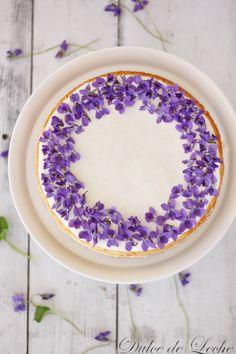 Fialkový cheesecake