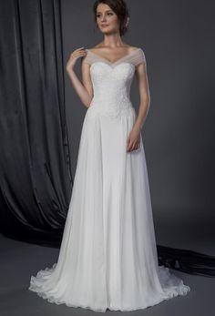 Style 50150056   Sheer off the shoulder bridal dress