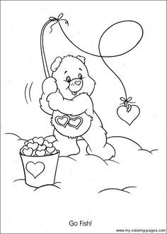 Care Bears Coloring Pages Feeling Grumpy 073