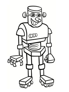 coloriage robot Coloring Pages, Kids Learning, Art Projects, Fictional Characters, Barn, Top, Image, Drawings, Colors