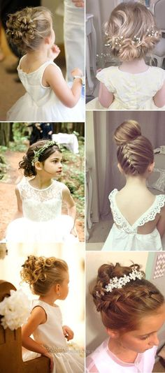 new updo hairstyles for flower gilrs. - Iser Haircuts - - new updo hairstyles for flower gilrs Wedding Hairstyles For Girls, Flower Girl Hairstyles, Little Girl Hairstyles, Bride Hairstyles, Little Girl Updo, Updos For Little Girls, Updos For Kids, Bridesmaids Hairstyles, Trendy Hairstyles