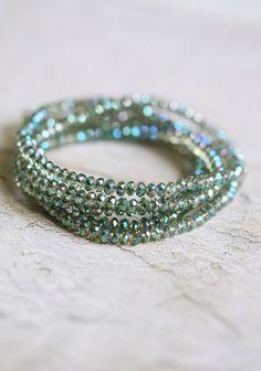 Prism Light Indie Wrap Bracelet In Green | Modern Vintage Bracelets | Modern Vintage Jewelry