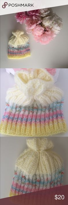 Handmade baby winter hat Never worn. Washed one time with baby detergent.Smoke free-pet free home. Handmade winter hatOffer me! Accessories Hats
