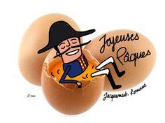 illustration joyeuses pâques romans sur isère avec le Jacquemart - aurélie padovani pour l'office de tourisme de romans sur isère dans la Drôme - http://blog.etpourquoipaslalune.fr